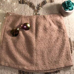 Forever 21 fuzzy sparkle skirt